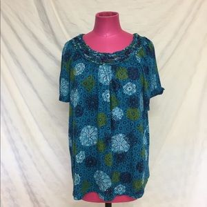 White Stag Blue Patterned Blouse